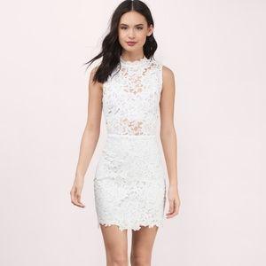 [TOBI] Sweet Fantasy Lace Bodycon Dress wht sz Med